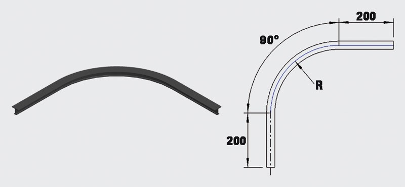 Skena, böjd 90 grader - Ass 10-3105104