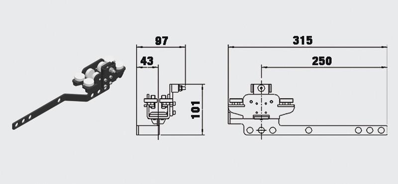 Lok HD med omlottbeslag - Trumpf 95 10-31154012