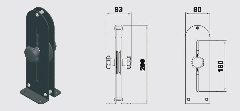 Spännhjul 180 mm - Trumpf 95 10-31007071