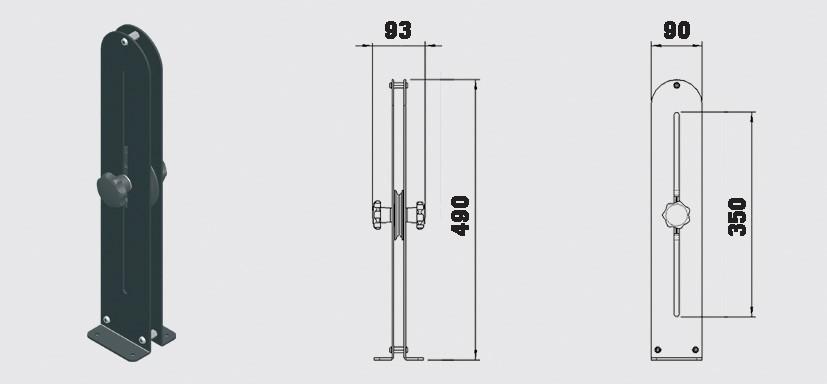 Spännhjul 350 mm - Trumpf 95 10-31007081