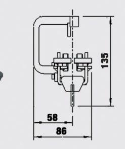 Lok för ovanliggande linföring - Trumpf 95 10-31153011
