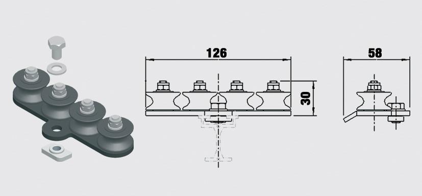 Linföring 4-spårig - Trumpf 95, 10-31153041