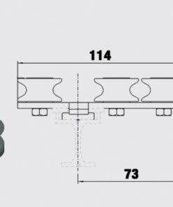 Linföring 3-spårig - Trumpf 95, 10-31153021