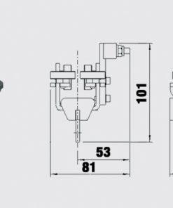 Lok sidoliggande linföring Trumpf -95 10-31154011