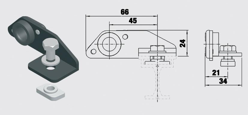 Linstyrning, sidoliggande - Trumpf 95 10-31154021