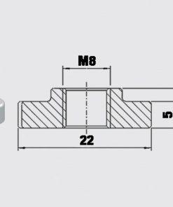 Ankarbricka/spårmutter M8 10-31150091