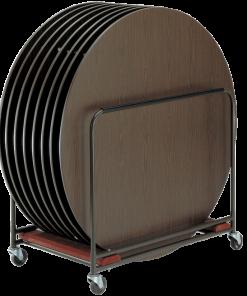 RTC - Vagn för runda bord, kapacitet 8 st.